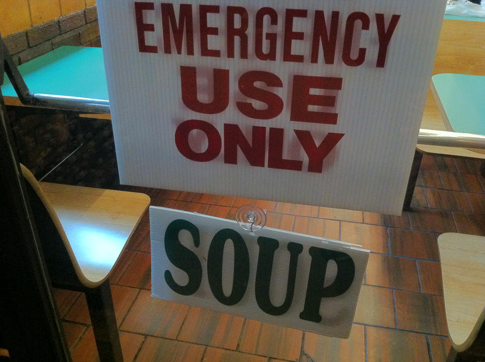 Emergency: Use Only Soup.