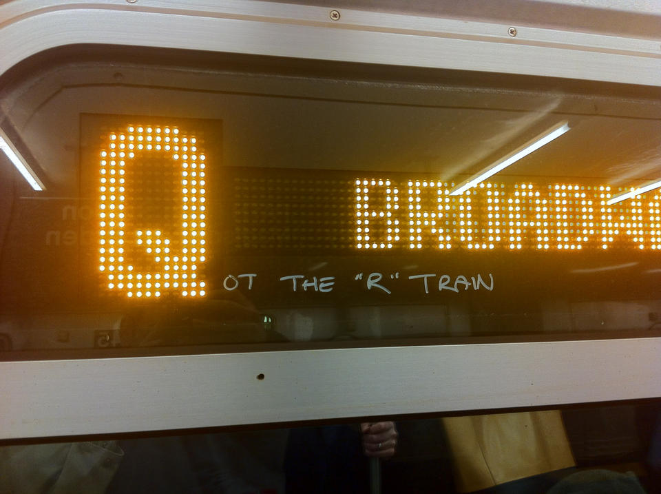 Qot the R train