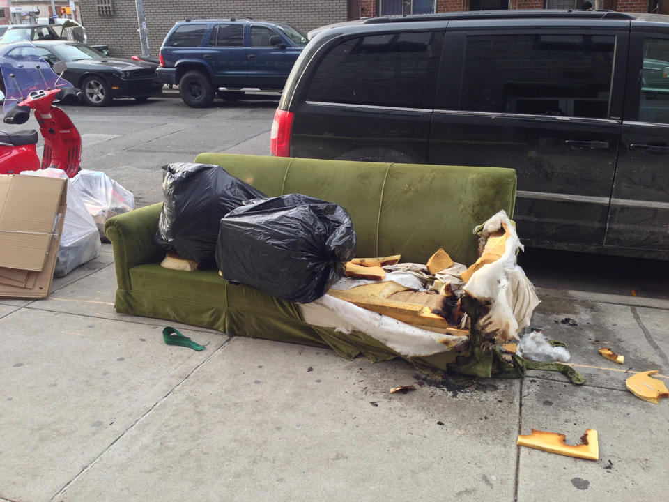 Somebody threw out a perfectly good couch!