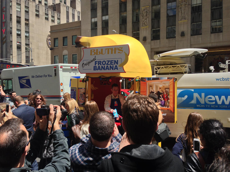 I can confirm that there is a frozen banana stand on 6th Ave.