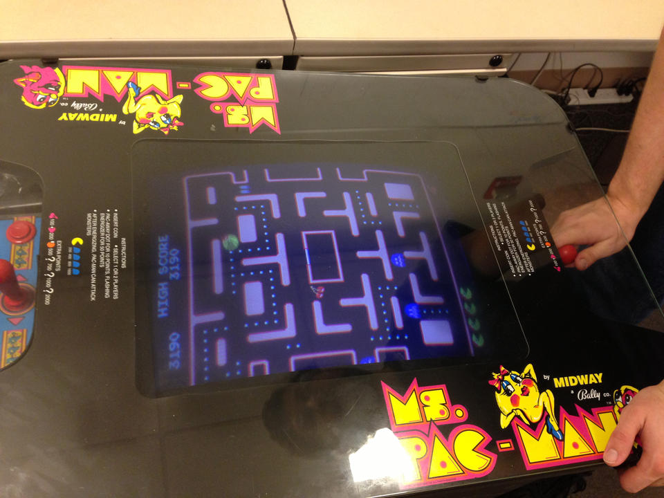 We had a date with Ms. Pac-Man.