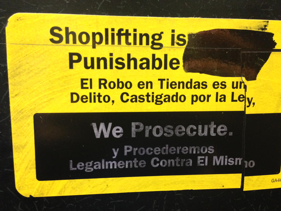 Shoplifting is Punishable