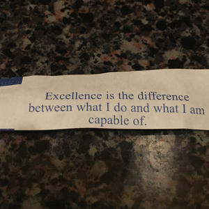 Excellence is... under-applying yourself?