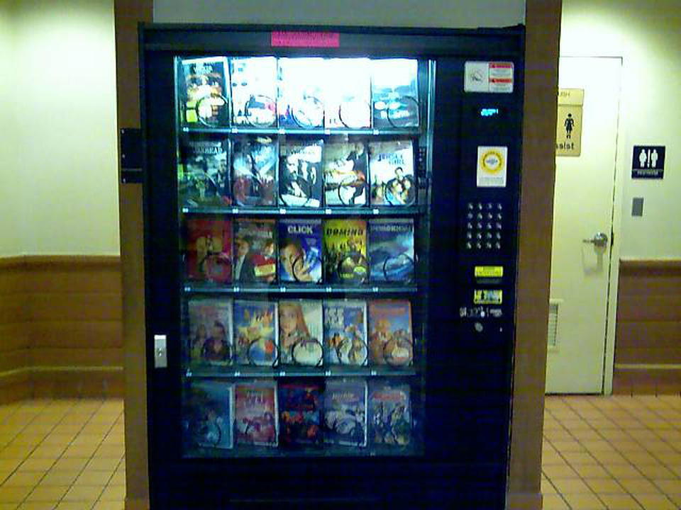 Here we see a rather novel device... The DVD Vending Machine.